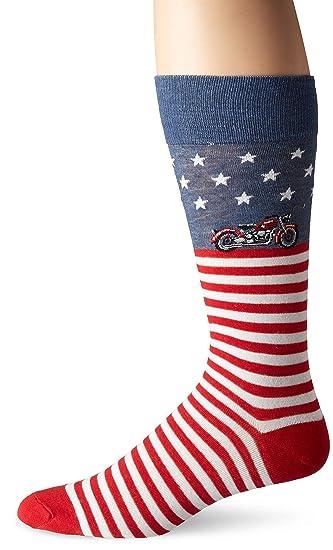 6bdedf7566c7e Amazon.com: DAVCO Mens Novelty Crew Sock, american cyclone, One Size ...
