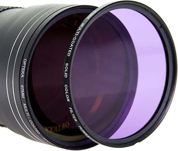 Orange Purple Yellow Green Opteka 58mm HD Multicoated Graduated Color Filter Kit for Digital SLR Cameras Includes: Red Brown Pink and Gray ND Filters Blue
