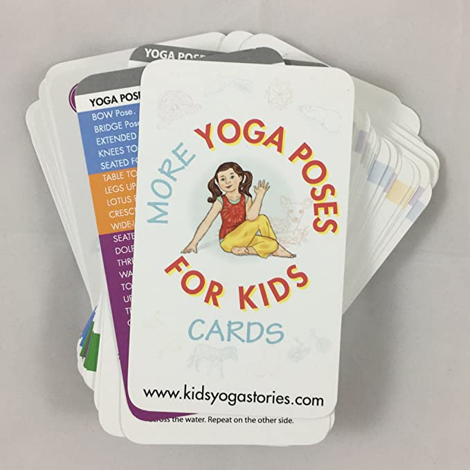 Amazon More Yoga Poses For Kids Cards Deck Two Toys Games