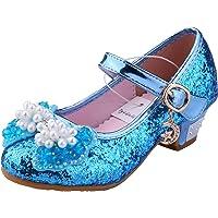 Tyidalin Niña Bailarina Zapatos de Tacón Disfraz de Princesa niña Princesa del Otoño de Las Lentejuelas de Prinavera…