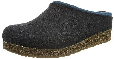 Haflinger Torben, Unisex-Erwachsene Pantoffeln, Grau (Graphit 77), 36 EU