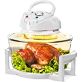 Evelyn Living 12 Litre White Premium Digital Halogen Convection Oven Cooker 1300W Home Portable