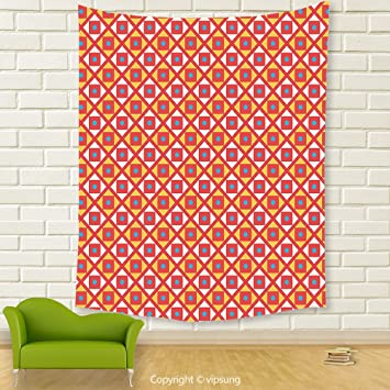 Amazon.com: Vipsung House Decor Tapestry_Kids Checked Pattern With ...