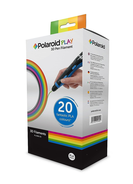 Polaroid Play 3D Pen Filamento 20 fant/ásticos PLA colores