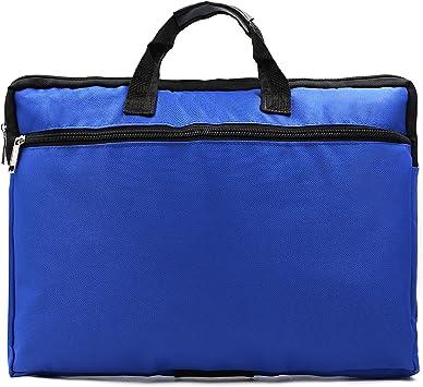 Canvas A4 Document File Bag Organizer Case Zipper Handle Messenger Bags Briefcase For Unisex Black