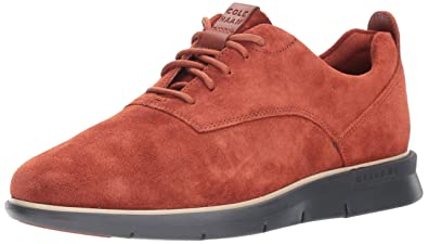 Cole Haan Men's Grand Horizon Oxford Wholesale II Sneaker, Brandy Brown  Suede/Gray Pinstripe