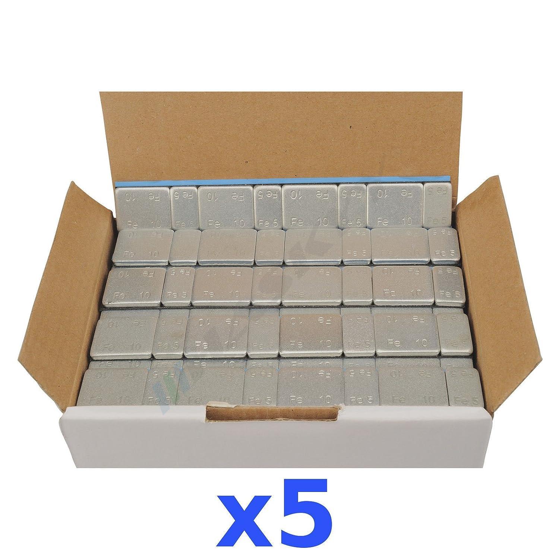 5 X 6 kg 30 kg Pesi adesivi Pesi striscia adesiva auswucht 5 G * 4 + 10g * 4 500 tavoletta Haskyy