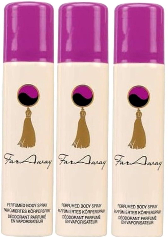 1a AVON COSMETICS 179374 Far Away Perfume Bodyspray 3 x 75 ml AV 179374x3 2013