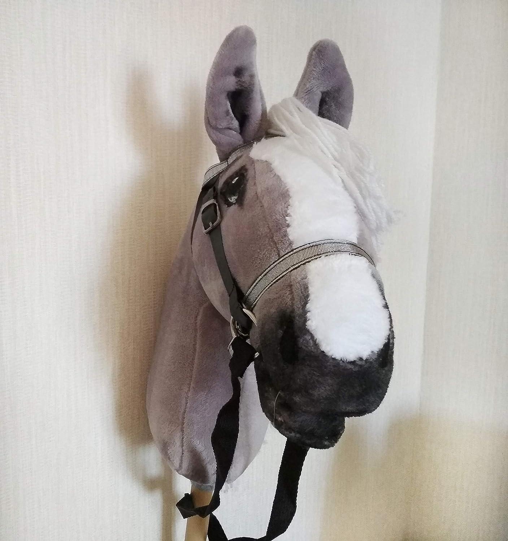 Gray Hobby horse Hobbyhorse open mouth Stick horse