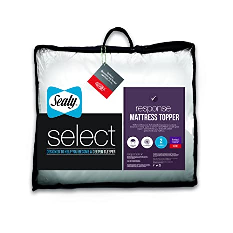 Sealy Select Respuesta colchón, Blanco, Super King