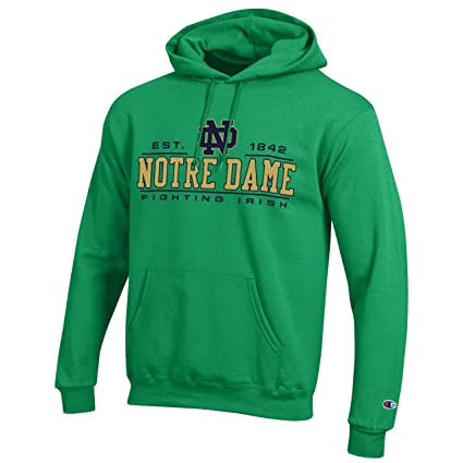 4077af23 Champion Campus Colors Notre Dame Fighting Irish Powerblend Hoodie for  Adults - Officially Licensed Unisex NCAA