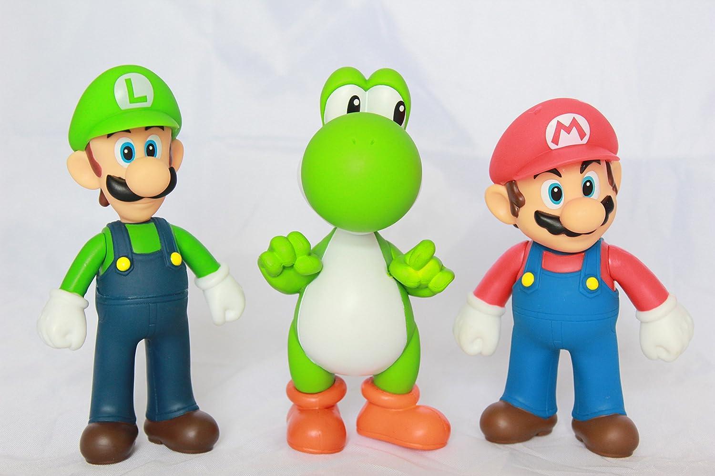 Amazon Com Super Mario Bros Brothers 5 Mario Luigi Yoshi