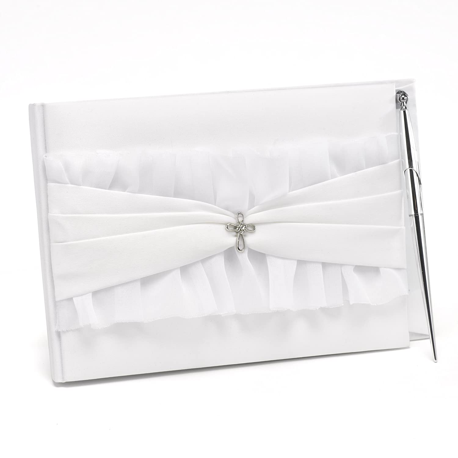 Hortense B Guest Book and Pen Set Sourced Wit 20533 Hewitt Faith and Love Wedding Accessories