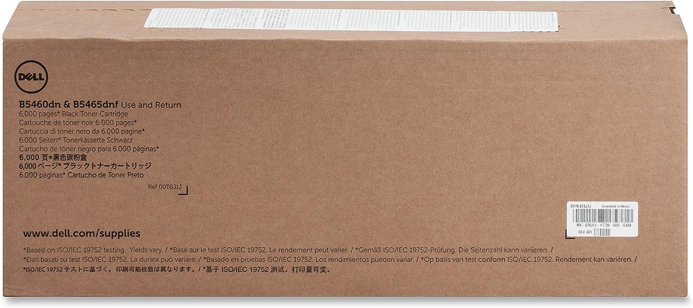 Dell T6J1J Toner Cartridge B5460dn/B5465dnf Laser Printers