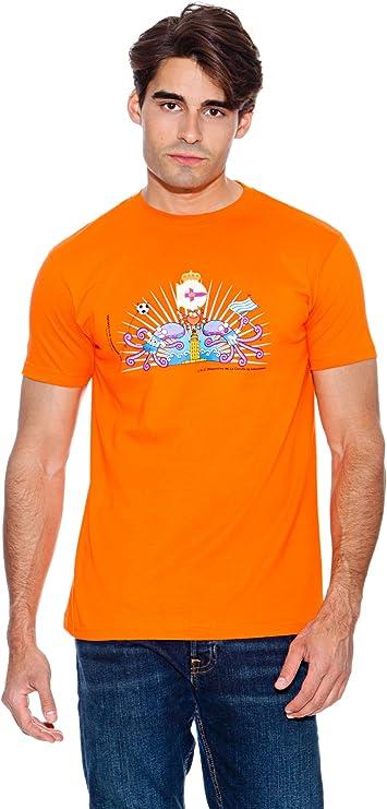 Kukuxumusu Camiseta Dep. Coruña Naranja L: Amazon.es ...