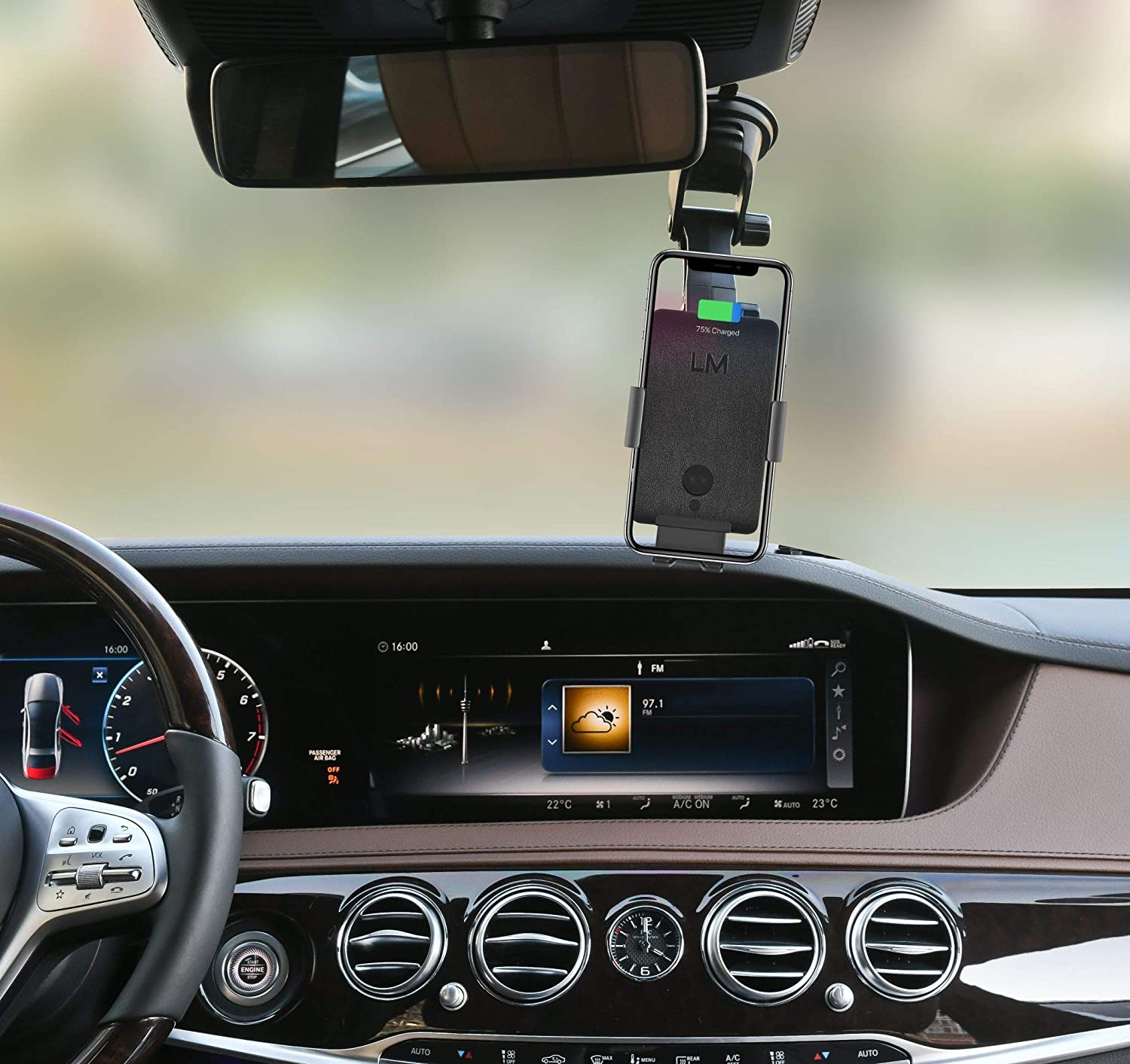 Note etc. Car Phone Mount 10W//7.5W QI Wireless Fast Charging Air Vent Phone Holder Louise/&Mann Wireless Car Charger Windshield,Dash with Auto Clamping for iPhone 11,Pro Max,Xs,XR,8,Samsung S10,Plus