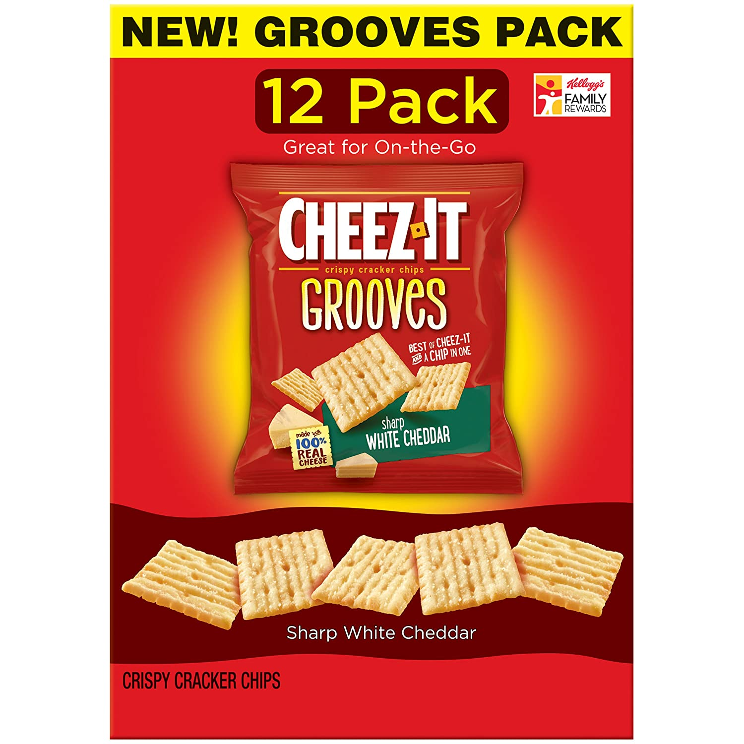 sharp white cheddar. amazon.com: cheez-it grooves crispy snack crackers, sharp white cheddar, 12 ounce cheddar h