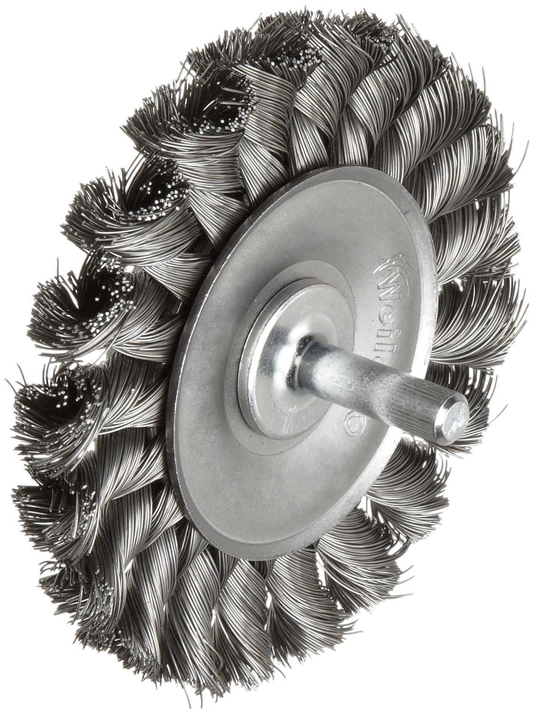 Weiler 36030 Vortec Pro 0.014 Wire Size 3 Diameter Carbon Steel Bristles Crimped Wire Cup Brush