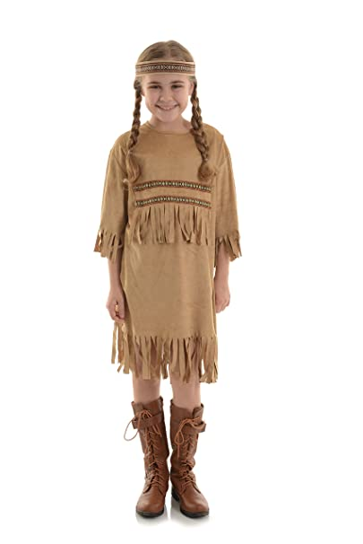 Amazon.com: Indian Girl Native American disfraz largo Fancy ...