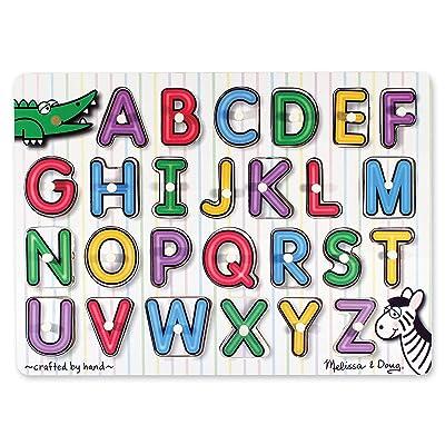 Melissa & Doug See-Inside Alphabet Peg Puzzle: Melissa & Doug: Toys & Games