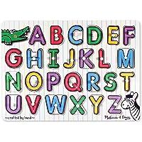 Melissa & Doug See-Inside Alphabet Wooden Peg Puzzle (26 pcs)
