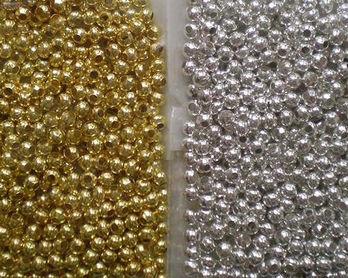 pcs Art Hobby À faire soi-même Fabrication De Bijoux Dark Silver Iron Round Spacer Beads 3 mm 600