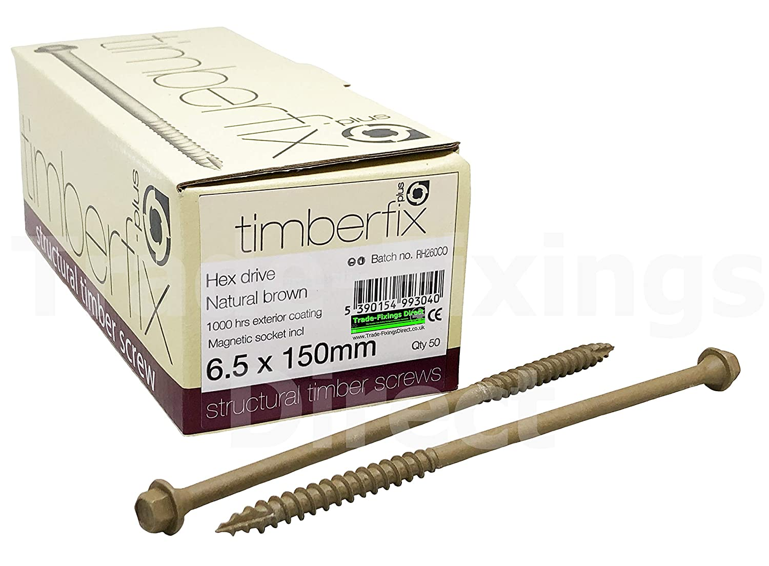 2X Timber Decking Structural Screw 7.0 x 150mm DIY 50 Pack