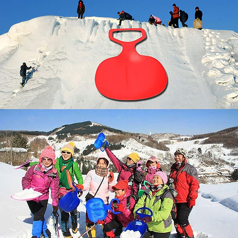BIBOKAOKE Schlitten Wasserskiboard f/ür Unisex Kinder und Erwachsene Schneerutscher Kunststoff Tragbare Schneerutscher Snowboard Outdoor-Sport Skifahren