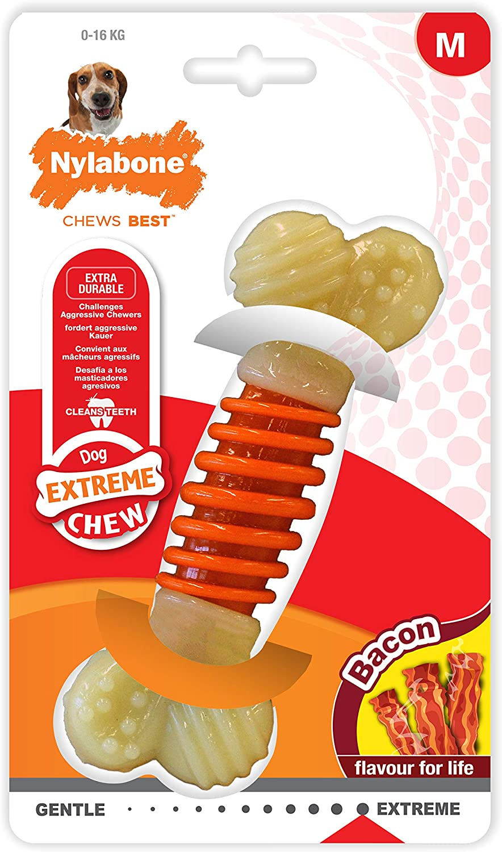 Nylabone Dental Chew Bacon flavored Pro Action Bone Dog Chew Toy
