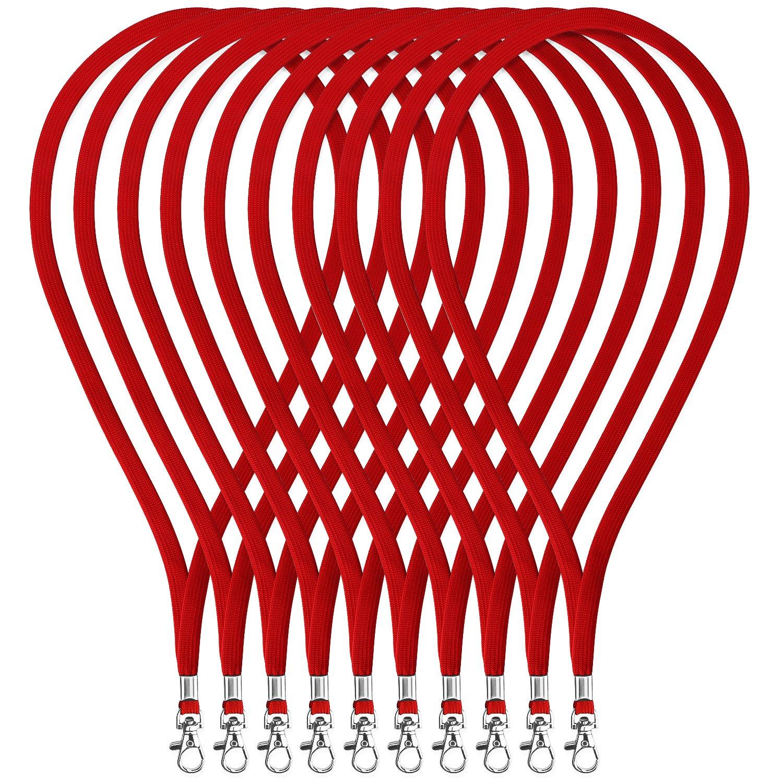 Fushing 100 Pezzi Cinghia in Poliestere 45cm con Chiusura Girevole per Carte di identità, Chiavi, Impiegati, Studenti, Visitatori ecc. Ujoy NECKLANYARDYELLOW100P