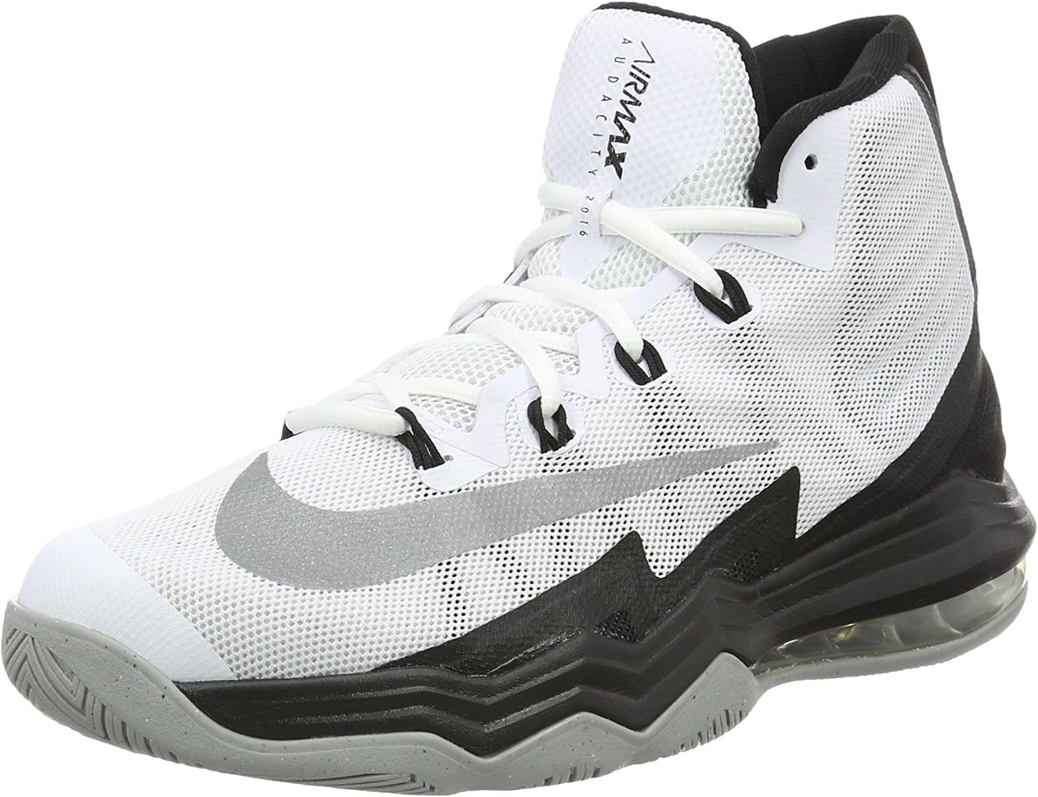 argumento Broma Infrarrojo  Amazon.com | Nike Air Max Audacity 2016 Men's Shoes White/Silver/Black/Wolf  Grey 843884-100 (8.5 D(M) US) | Basketball