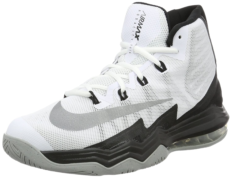 Nike Herren Air Max Audacity 2016 Basketballschuhe  445 EU Blanco (White / Reflect Silver-black-wolf Grey)