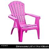 Progarden 36799 Dolomiti Deckchair Vollkunststoff, stapelbar, pink