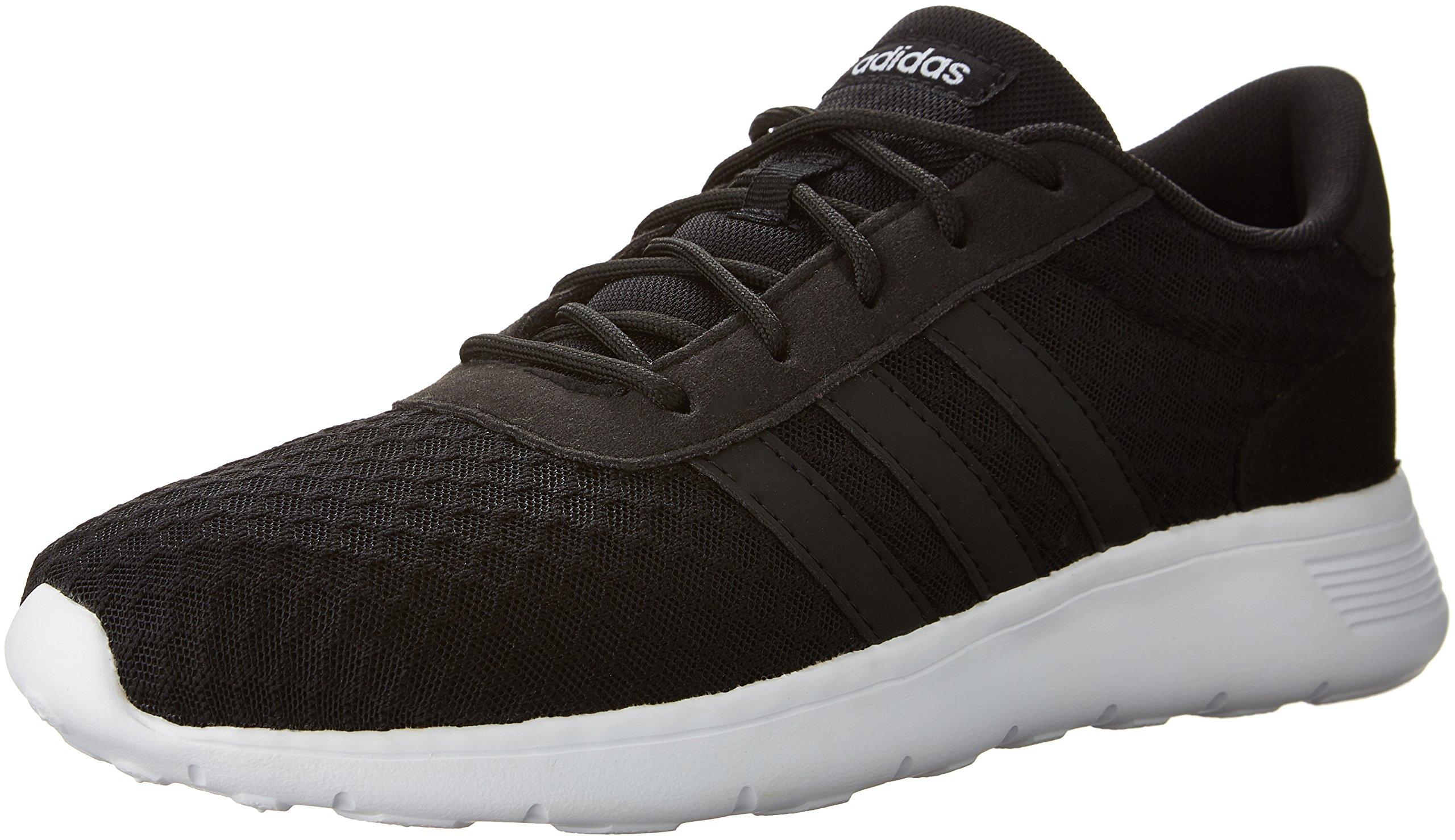 adidas Women's Lite Racer W Sneaker, Black/White, 8.5 M US by adidas (Image #1)