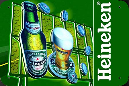 Heineken Beer Ad Board metal poster cartel hojalata signo ...