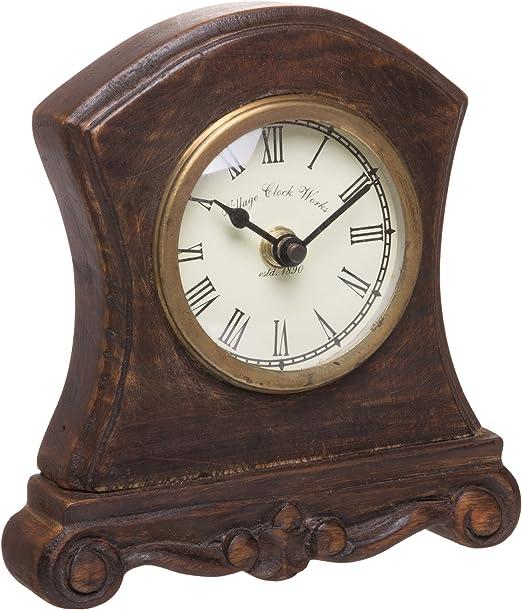 Red Co. Reloj analógico de Mesa de Madera de Estilo Antiguo, Pieza ...