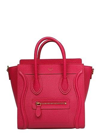 order special section cheap price Amazon.com: Céline Women's 189243Dru24pi Fuchsia Leather ...