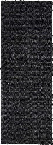 Superior Kula Jute Runner Rug, 2 6 x 12 , Black