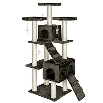 TecTake rascador para gatos árbol para gatos sisal juguetes 186cm - disponible en diferentes colores - (Gris | no. 400525): Amazon.es: Hogar