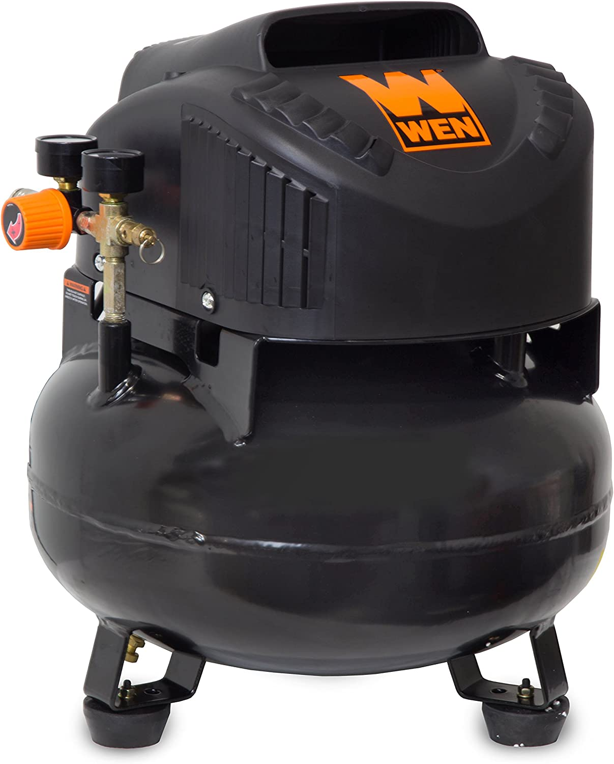 WEN 2286 6-Gallon Oil-Free Pancake Air Compressor, 150 PSI