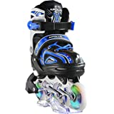 Apollo Super Blades X Pro, Available in S, M, L, LED Inline Skates, Roller Skates Children, Great beginners, Comfortable roller skates, Inline skates girls boys