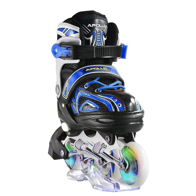 Apollo Super Blades X Pro、S、M、LのLEDインラインスケート、子供用ローラースケート、初心者に最適、快適なローラースケート、女の子と男の子用インラインスケート