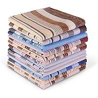 Men's Cotton Handkerchiefs, Ohuhu 100% Pure Cotton Pocket Square Hankies/Pocket Handkerchiefs For Men, Great Father's…