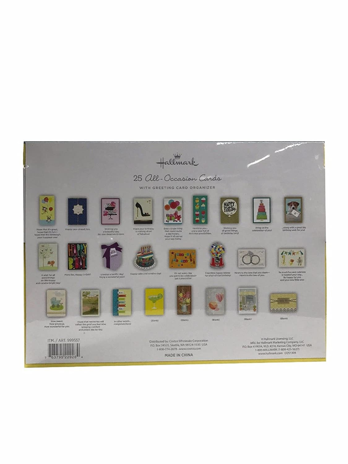 Amazon hallmark 25 all occasion cards with greeting card amazon hallmark 25 all occasion cards with greeting card organizer office products kristyandbryce Image collections