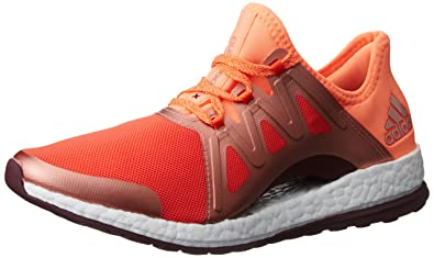 9aeb0b119 adidas Pure Boost Xpose Running Shoes - Womens - Energy Glow Orange Maroon -