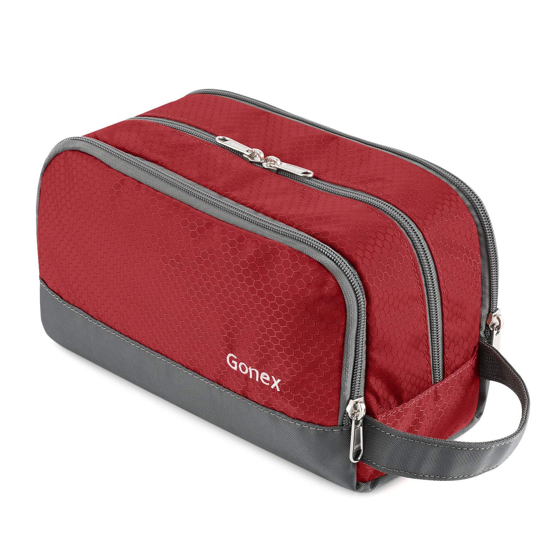 Travel Toiletry Bag Nylon, Gonex Dopp Kit Shaving Bag Toiletry Organizer Red