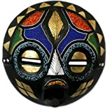 NOVICA Decorative Zambian Wood Mask, Multicolor 'My Bride'