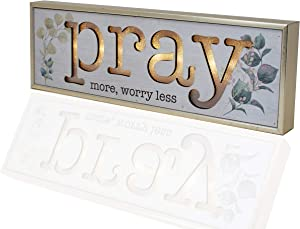 Premier Home Imports Christian Wall Art Pray More Worry Less Light Up Box Sign-Inspirational Wall Decor-Scripture Wall Decor-Religious Home Decor-Bible Verses Wall Decor - 4