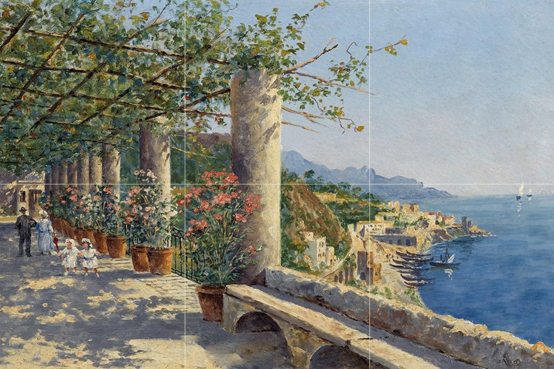 - Tile Mural Sorrento By Antonietta Brandeis Italy Coast Flowers