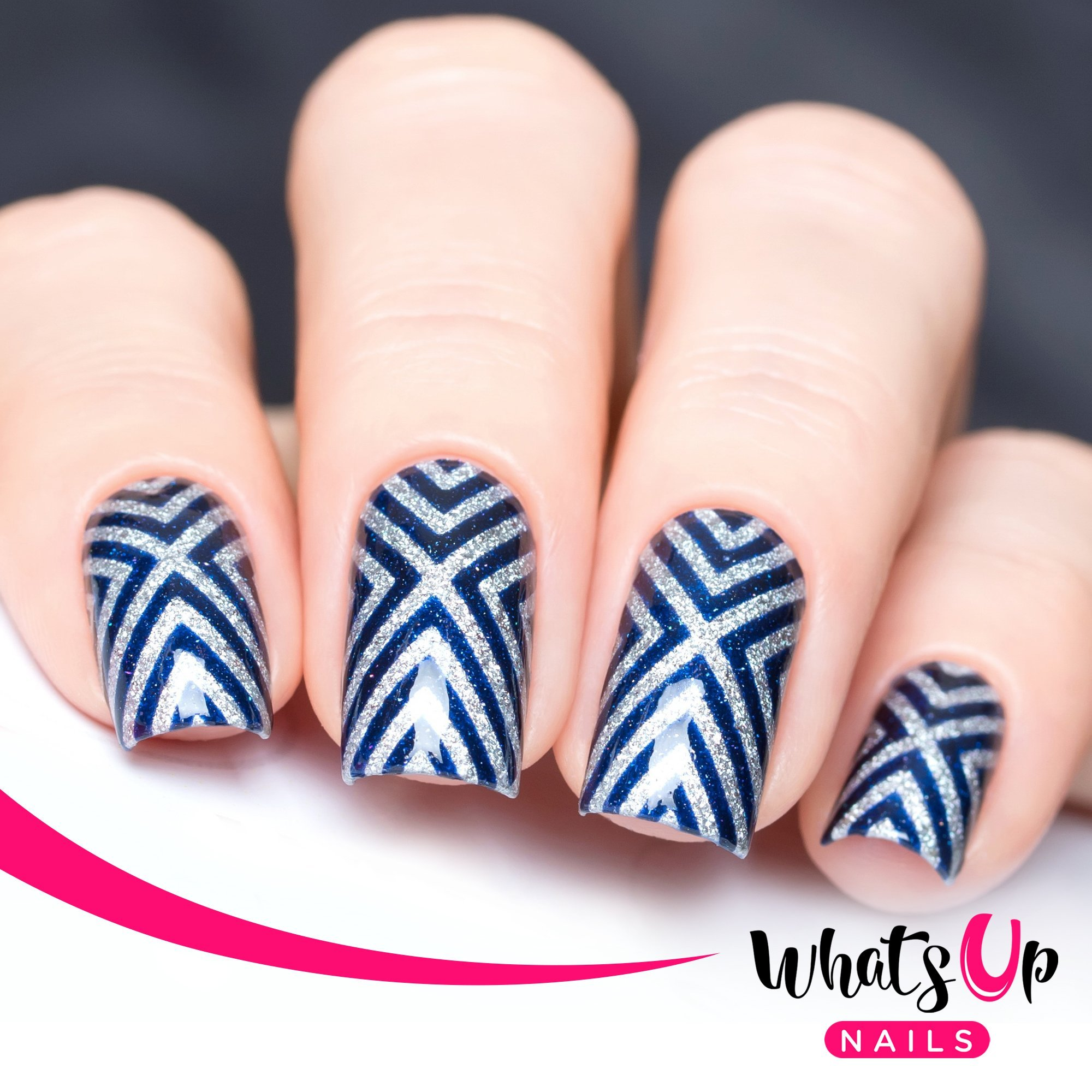 Amazon.com : Whats Up Nails - Triangle Spiral Tape Nail Stencils ...
